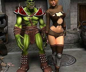 Green goblin with gorgeous blonde..
