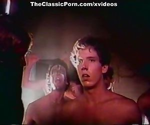 Ginger Lynn Allen, Traci, Tom Byron in vintage porn video