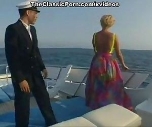 Classic retro scenes on a boat