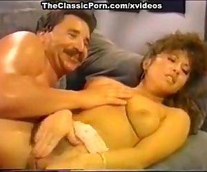 Dana Lynn, Nina Hartley, Ray Victory in vintage porn movie