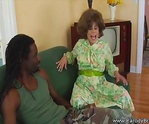 MILF From Parody Movie Fucks Hard