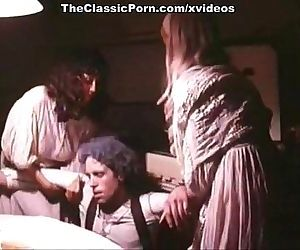 Pauline LaMonde, Dominique Santos, Sharon Mitchell in vintage porn scene