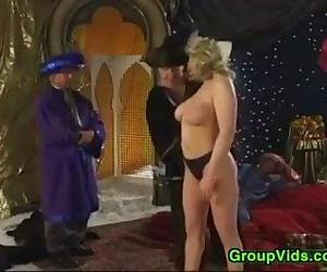 Vintage Group Sex In An Exotic Location