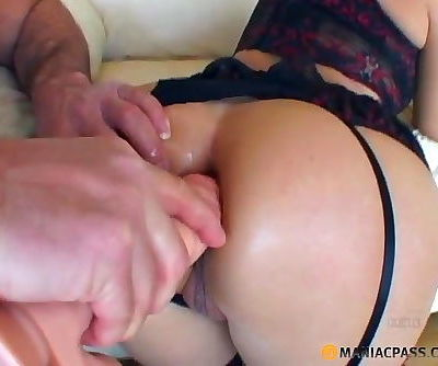 Asian hottie taking 4 cocks