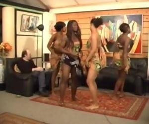Africanal Dancing By Jean Claude Bauman