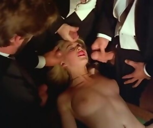 Classic pornstar Marilyn Jess rare multiple facial
