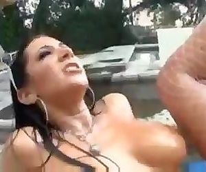 Oil Orgy By The Pool