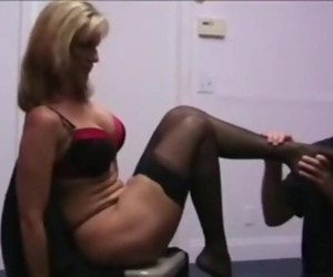 mature nylon feet sniffing footjob pantyhose sniffing smell4414