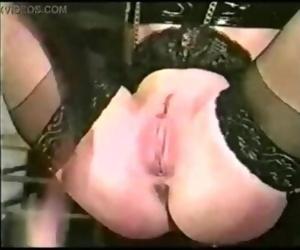 Vintage pussy whipping, bondage and nipple clamps - 18girls.xyz
