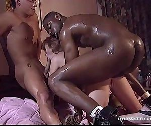 Interracial Threesome with Magerita