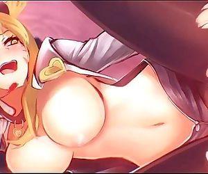 ahri league of legends hentai..