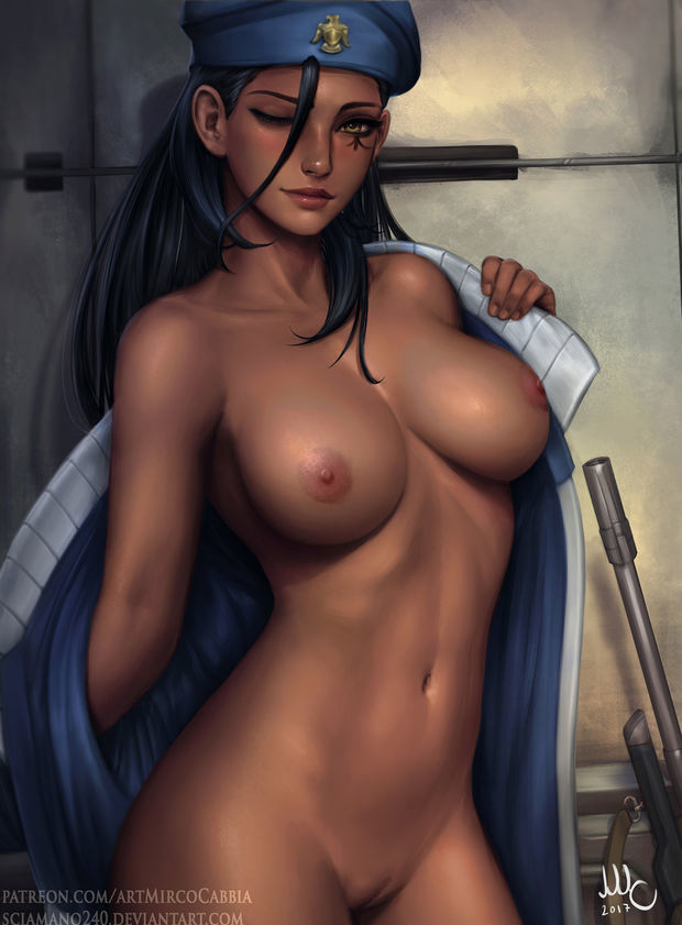 Nude Captain Ana Amari by Mirco..