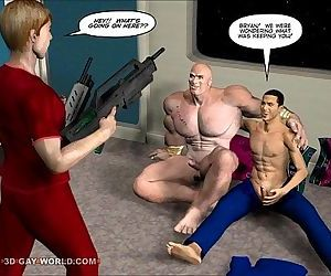 FIRST ANAL CONTACT 3D Gay Cartoon..