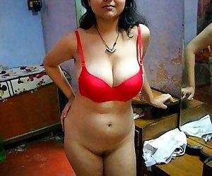 Bengali Indian Bhabhi Sexy Savita In Red Lingerie - 36 sec