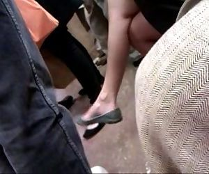 Asian milf on F train expert dangle - 56 sec