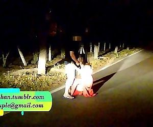 Pranya getting fucked on running road with Police Sirens behind 2 min HD
