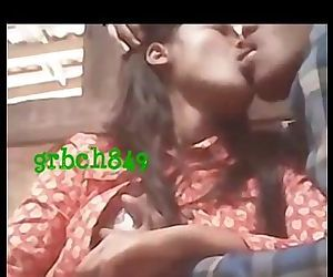 1190 Indian desi couple smooching and kissing while boobs pressed by lover - 1 min 36 sec