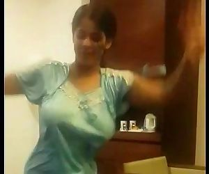 Indian Wife Dancing in hotel room - 51 sec
