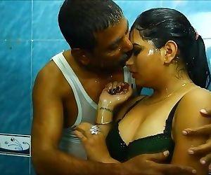 Desi wet clothes shower