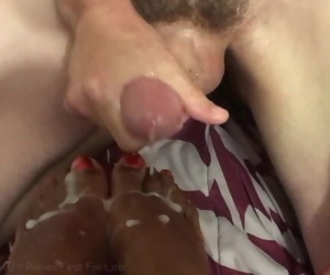 Her first Foot Job - Covered in Cum by BWC - Rubie & Josh
