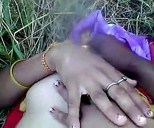 Desi girl enjoying with boyfriend in outdoor - 2 min