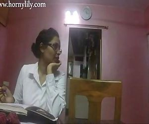 Indian Aunty Sex Horny Lily In Office HD - 10 min