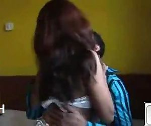 Indian Hot babe riding her lover passionately - Wowmoyback - 7 min