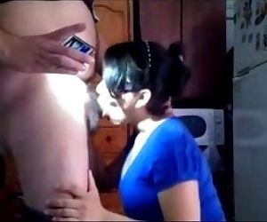 horny amateur indian bhabhi sucking a plumber cock - 4 min