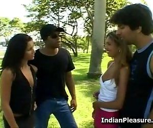 Desi Teen Babes In Group Sex - 6 min