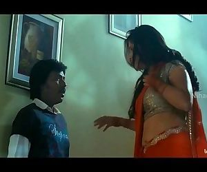 Lakshmi Rai In Red Saree Lawrence And Lakshmi Rai Romantic Kanchana Movie Scenes - 2 min