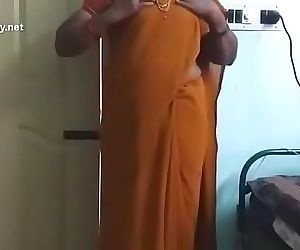 Tamil milf school teacher vasugi removes saree , blouse in one by one in front of webcam and fingering.. U cant..