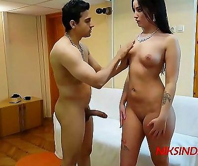 Celebrity Katrina Kaifs sister licked & double fucked by two men in Indian Ashram 5 min 1080p