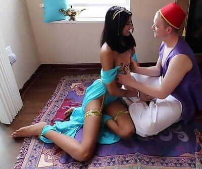 SLUTTY DESI PRINCESS JASMINE BLOWS ALADDIN ON MAGIC CARPET 10 min 1080p