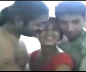 Indian Desi Girl Sandhya Sex Masti With Brother & Boyfriend Scandal in Hindi Language 5 min