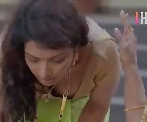 Hot Serial Actress Sexy Boobs Cleavage & Boobs Downblouse Back Show Saree