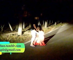 Pranya getting fucked on running road with Police Sirens behind 2 min 720p