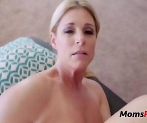 Son massages mom & she massages his balls 8 min 720p