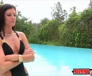 India Summer and Lola Foxx hot threeway near the pool 6 min