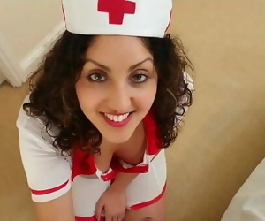 British Nurse collects patient sperm sample but ends up swallowing it deepthroat POV Indian 10 min 1080p