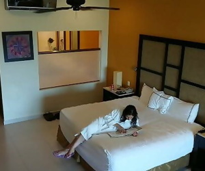 Young girl molested, forced to fuck and creampied against her will by hotel room intruder hidden spy cam POV Indian 14..