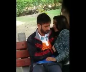 Delhi couple in park sucking dick boob press