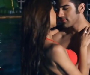 Hot Actress Sara Khan Showing Her Assets Intimate Love Scene