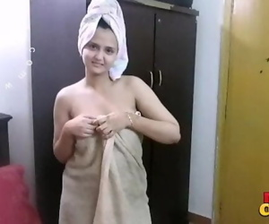 Indian Bhabhi Sonia After Shower Hardcore Sex With Husband Sunny Big Boobs