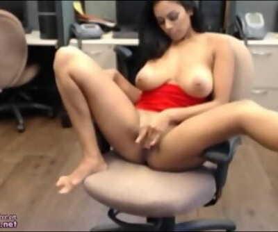 Real Amateur Indian Desi Masturbates At Work On Public Webcam