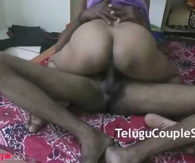 Telugu Indian Wife Riding her Husband on him and Fuck Hard