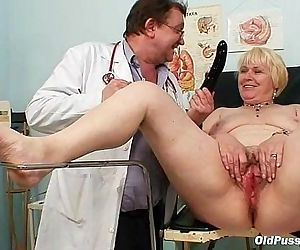 Chubby blond mom hairy pussy doctor exam - 5 min