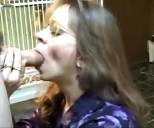 MILF from next door and swallows - more videos on www.69SexLive.com - 2 min