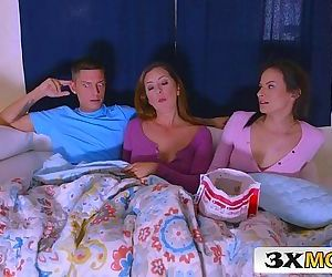 Latina MILF Joins Her Stepdaughter Alexis Deen and Her BF for a Movie Night SexHD