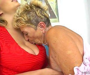 Busty granny and her younger lesbian friendMalya, Aida SwingerHD