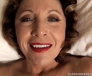 Sexy cougar has kinky piercings - 5 min